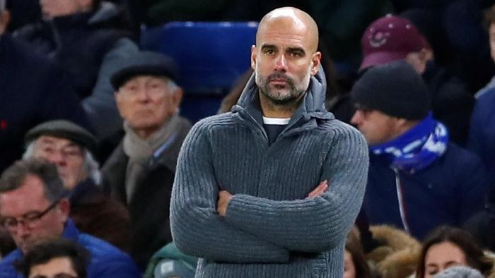 Pep Guardiola menyebut Ole Gunnar Solskjaer ingin memengaruhi wasit jelang derby Manchester. (Foto: Eddie Keogh/Reuters)