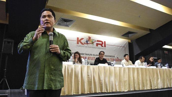 Erick Thohir jadi salah satu kandidat Ketum PSSI yg baru (Hafidz Mubarak A/Antara)