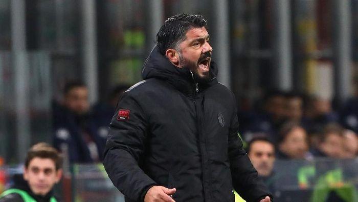 Gennaro Gattuso menerima hasil imbang yang diraih AC Milan saat menjamu Torino (Marco Luzzani/Getty Images)
