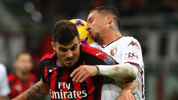 Patrick Cutrone tak mampu memberi AC Milan kemenangan saat menjamu Torino