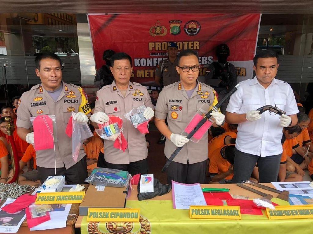 Operasi Pekat Jelang Akhir Tahun, 191 Orang di Tangerang Ditangkap