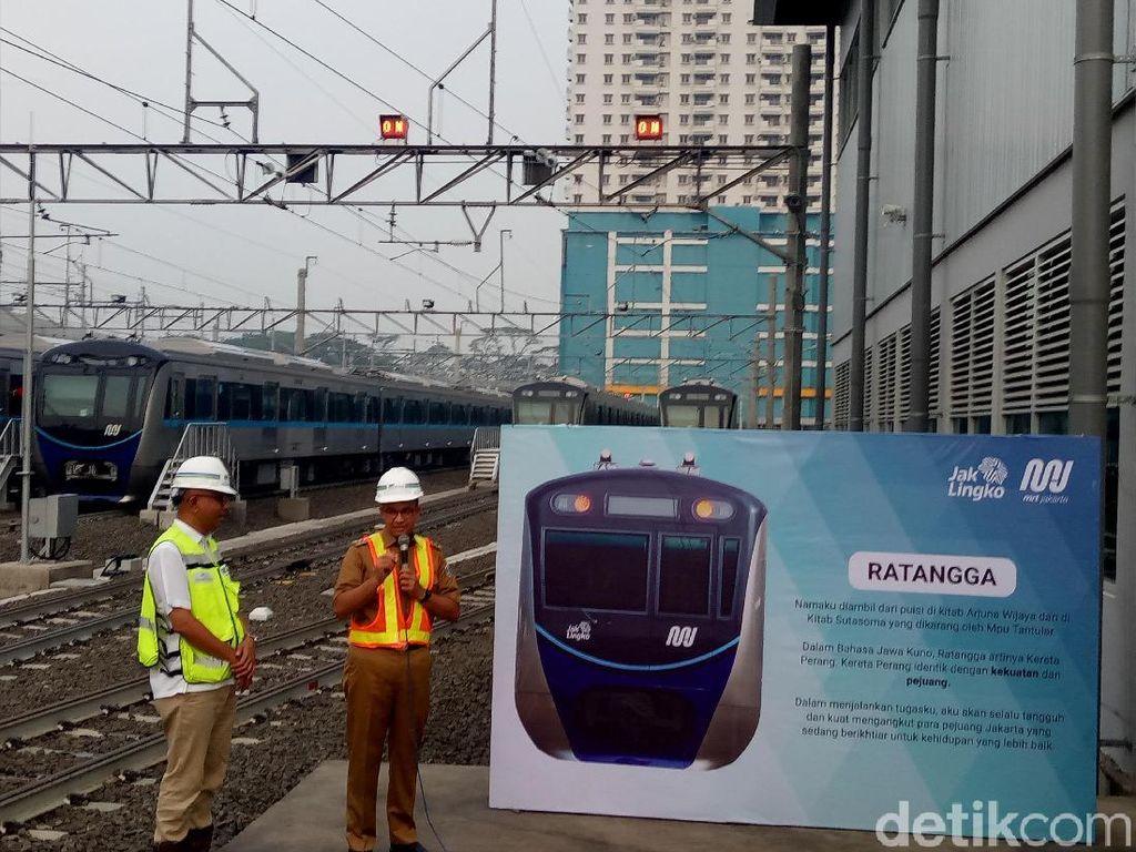 Diambil dari Kitab Sutasoma, Kereta MRT Fase I Dinamakan Ratangga