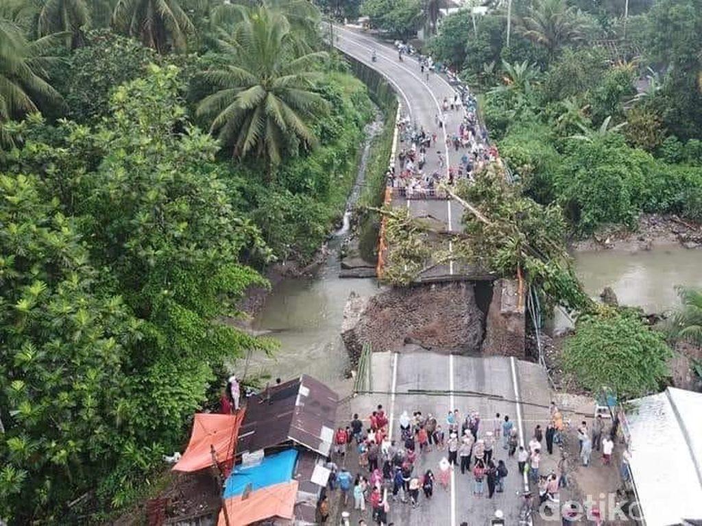 Jembatan Padang Pariaman yang Putus, Nyambung Lagi Besok