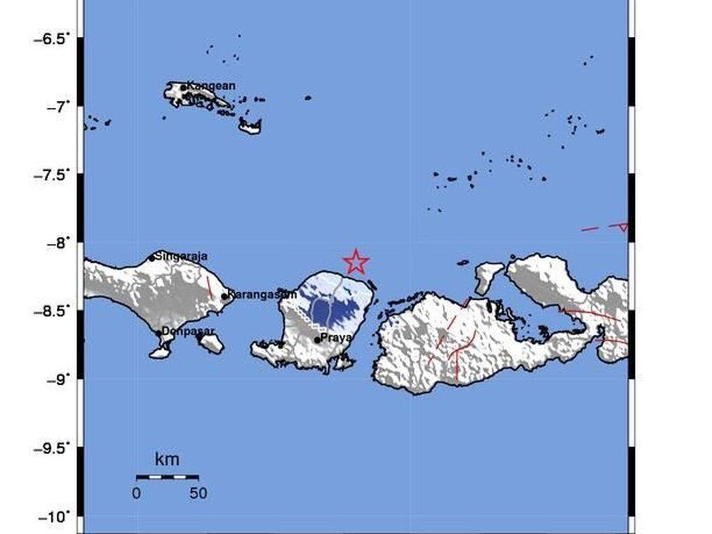 Gempa M 4,1 Terjadi di Lombok Timur