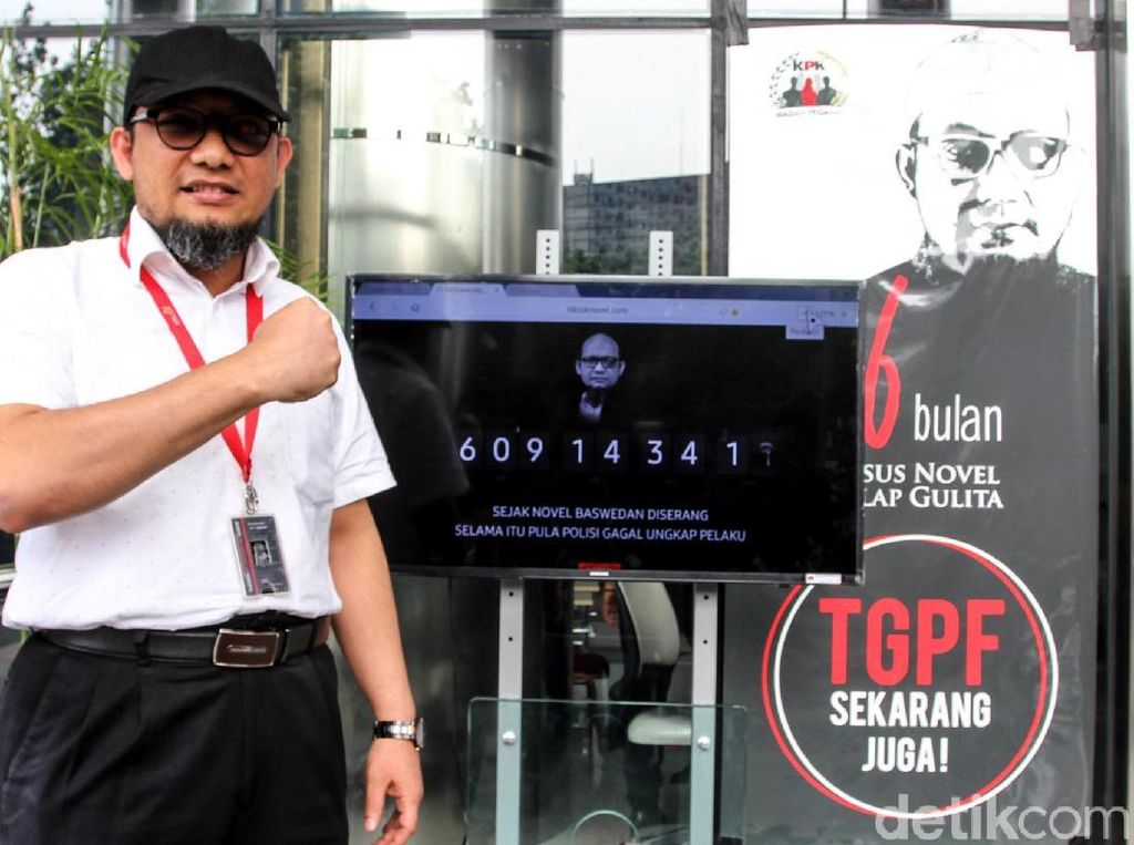 KPK Luncurkan Layar Hitung Dorong Kasus Novel Diungkap