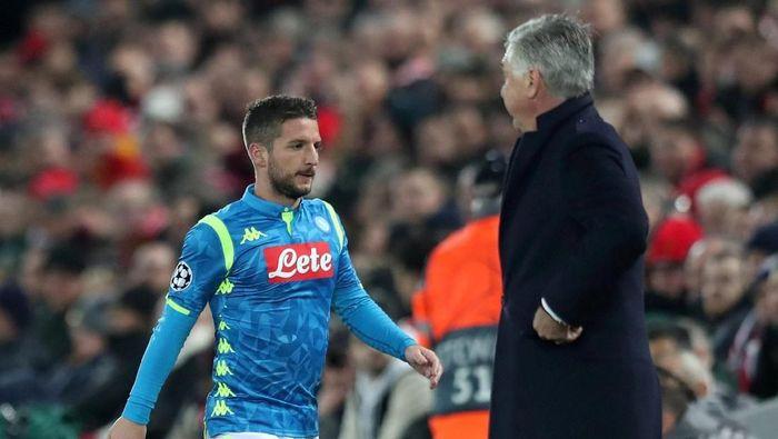 Carlo Ancelotti dapat nilai 8 dari musim perdananya di Napoli (Jon Super/Reuters)