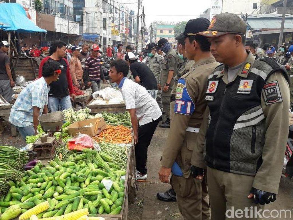 500 PKL di Pasar Cikarang Ditertibkan