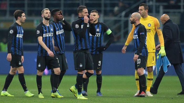 Inter Milan tersingkir dari Liga Champions usai seri 1-1 dengan PSV Eindhoven. (Foto: Emilio Andreoli/Getty Images)
