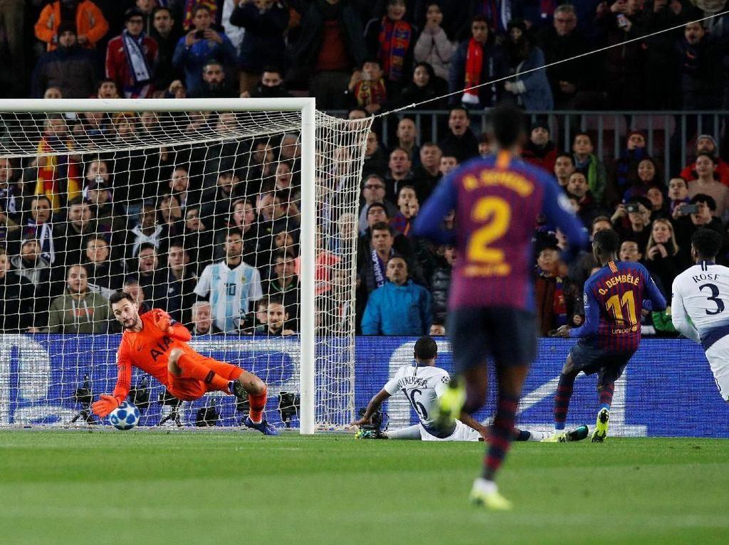 Dembele Menghancurkan Pertahanan Tottenham: Pressing, Sprint, Cut In, Gol