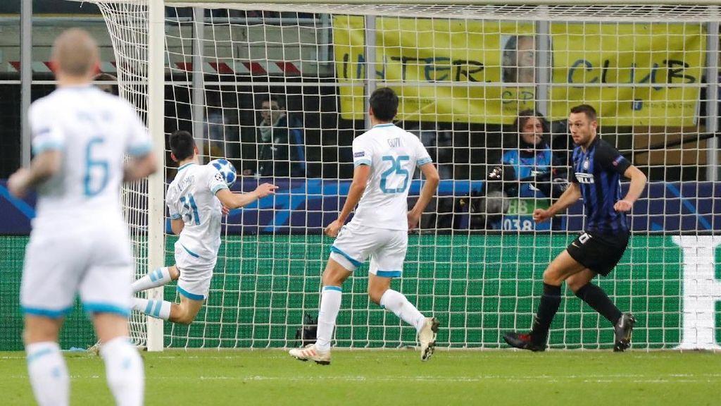 Inter Tertinggal 0-1 dari PSV di Babak Pertama