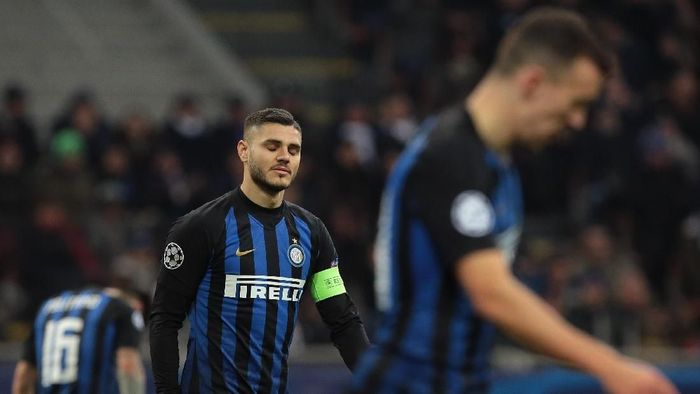 Mauro Icardi gagal membawa Inter Milan ke babak 16 besar Liga Champions. (Foto: Emilio Andreoli/Getty Images)