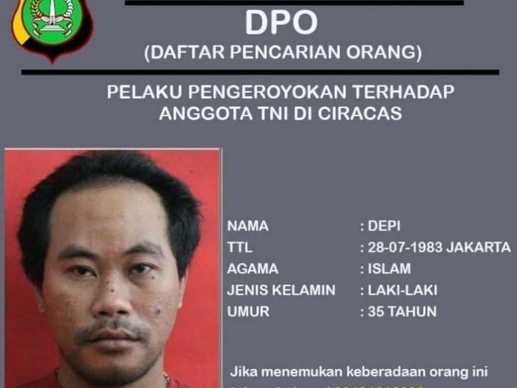 Depi Buron Pengeroyok Anggota TNI di Ciracas Ditangkap Polisi