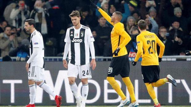 Juventus tersandung di pertandingan terakhir fase grup saat kalah dari Young Boys