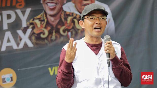"Direktur Relawan Tim Kampanye Nasional (TKN) Jokowi-Ma'ruf Amin, Maman Imanulhaq saat mengikuti Soft Lounching  Gerakan "" Politik Happy No HOAX"" di Jakarta, Kamis, 13 Desember 2018."