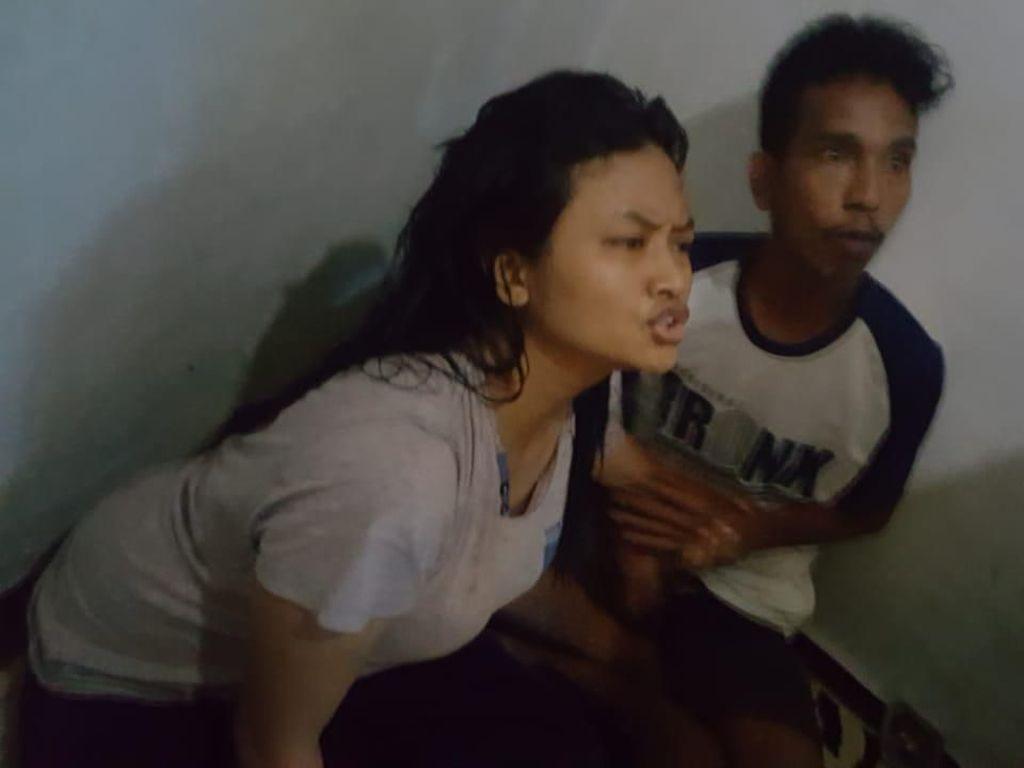 Detik-detik Penangkapan Pasutri Pengeroyok Anggota TNI