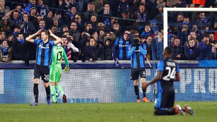 Dari Grup A, Club Brugge finis ketiga dengan enam poin. Tim asal Belgia itu kalah bersaing dengan Borussia Dortmund dan Atletico Madrid. Foto: Francois Lenoir/Reuters