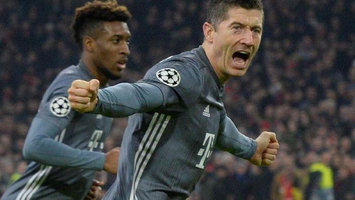 Kingsley Coman dan Robert Lewandowski dikabarkan berkelahi di sesi latihan Bayern Munich. (Foto: REUTERS/Toussaint Kluiters)