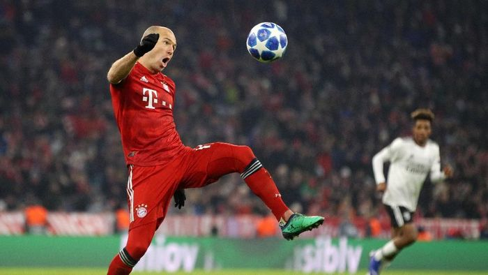 Pemain Bayern Munich, Arjen Robben. (Foto: Adam Pretty/Getty Images)