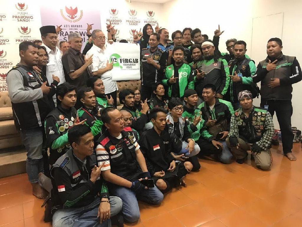 Komunitas Ojol Forgab 02 Deklarasi Dukung Prabowo-Sandi
