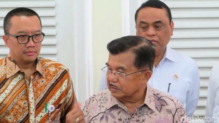 Jusuf Kalla mengapresiasi sukses manajemen Asian Games 2018. Foto: Wapres Jusuf Kalla (JK). (Noval-detikcom)