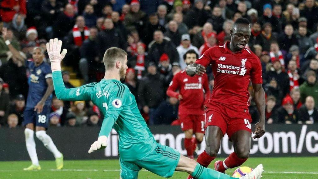 Liverpool Vs MU Berimbang 1-1 di Babak Pertama