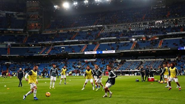 Santiago Bernabeu tak lagi dipenuhi penonton usai kepergian Cristiano Ronaldo. (
