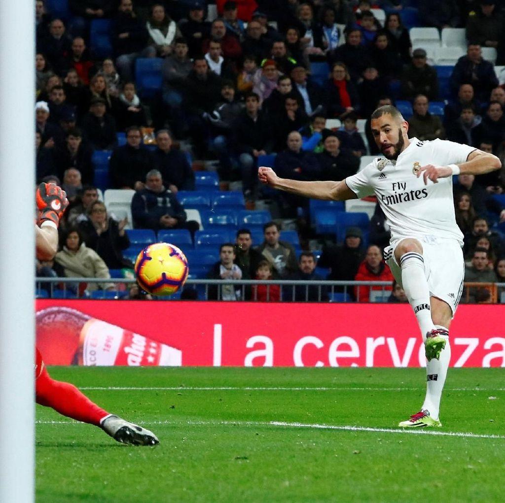 Hasil Liga Spanyol: Benzema Bawa Madrid Menang Tipis atas Rayo