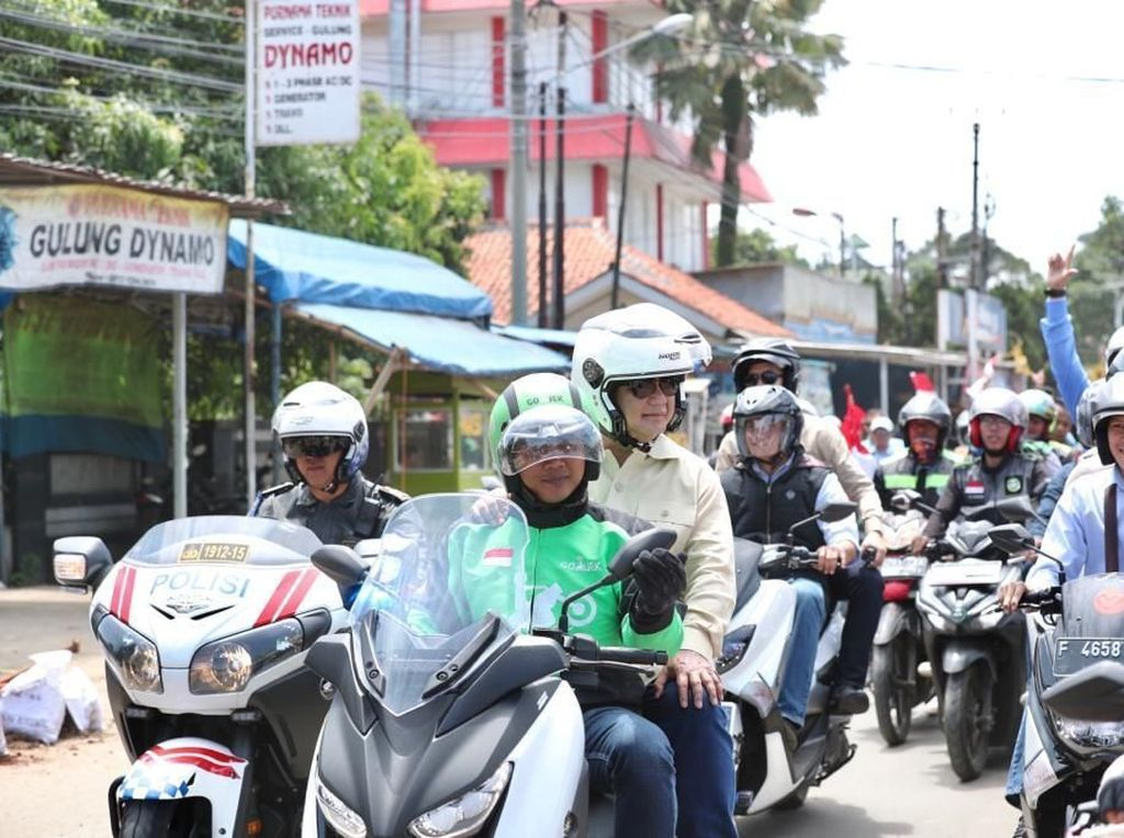 Melihat Motor Ojol yang Ditumpangi Prabowo, Harganya Bikin Kaget
