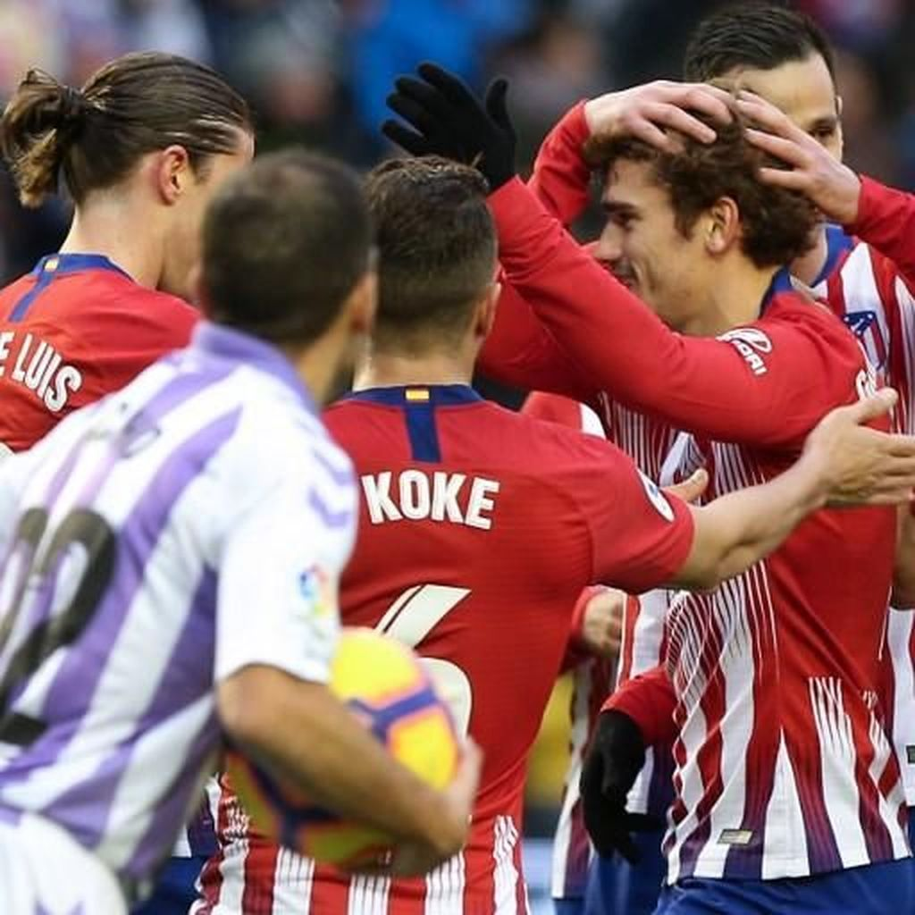 Hasil Liga Spanyol: Griezmann Dua Gol, Atletico Atasi Valladolid