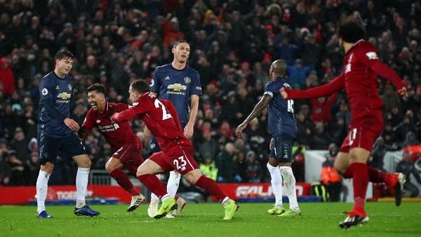 Liverpool Akhiri Puasa Kemenangan atas MU, Mou Akhirnya Kalah di Anfield