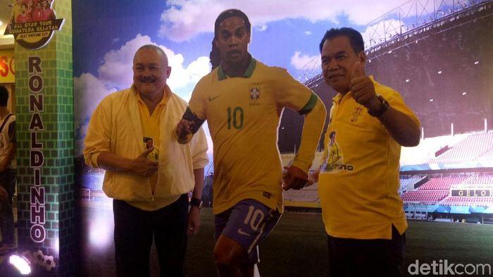 Ronaldinho akan hadir di Palembang pada Maret 2019. (Raja Adil Siregar/detikSport)