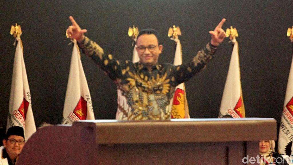 Anies Pose Salam 2 Jari, Gerindra: Itu 4 Jari, Simbol The Jak