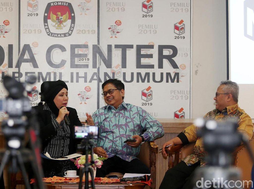 Ketua KPU Hingga Jubir Dua Kubu Capres Hadiri Diskusi Hasil Pemilu 2019
