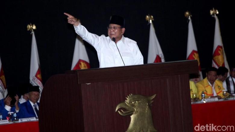 Prabowo Ingatkan Elite Nyumbang, 'Galang Perjuangan' Baru Raup Rp 3,3 M