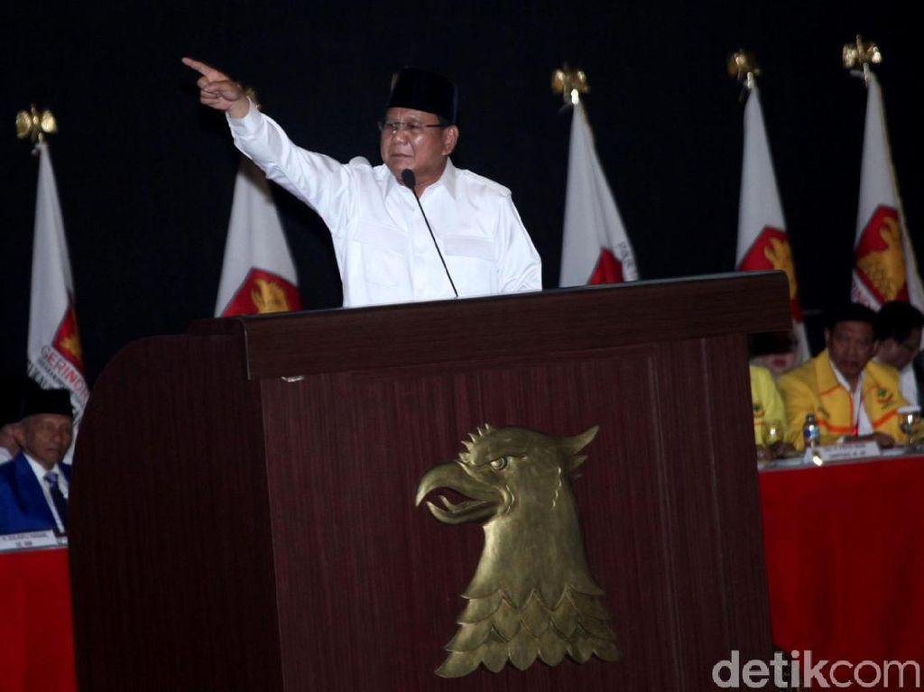 Prabowo Ingatkan Elite Nyumbang, Galang Perjuangan Baru Raup Rp 3,3 M
