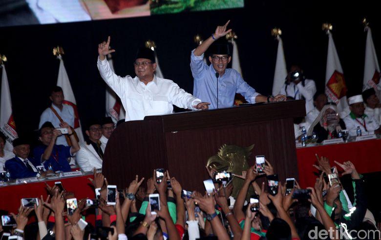 Prabowo-Sandi Setor Perubahan Visi-Misi ke KPU: Tagline-nya Indonesia Menang