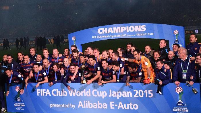 Barcelona, bersama Real Madrid, menjadi klub tersukses di Piala Dunia Antarklub (Atsushi Tomura/Getty Images)
