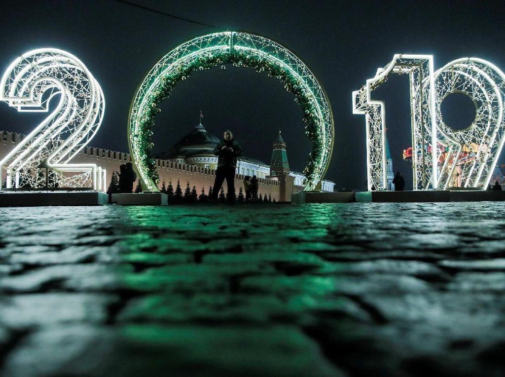 Keren Banget Lampu Kota Moscow Jelang Natal dan Tahun Baru