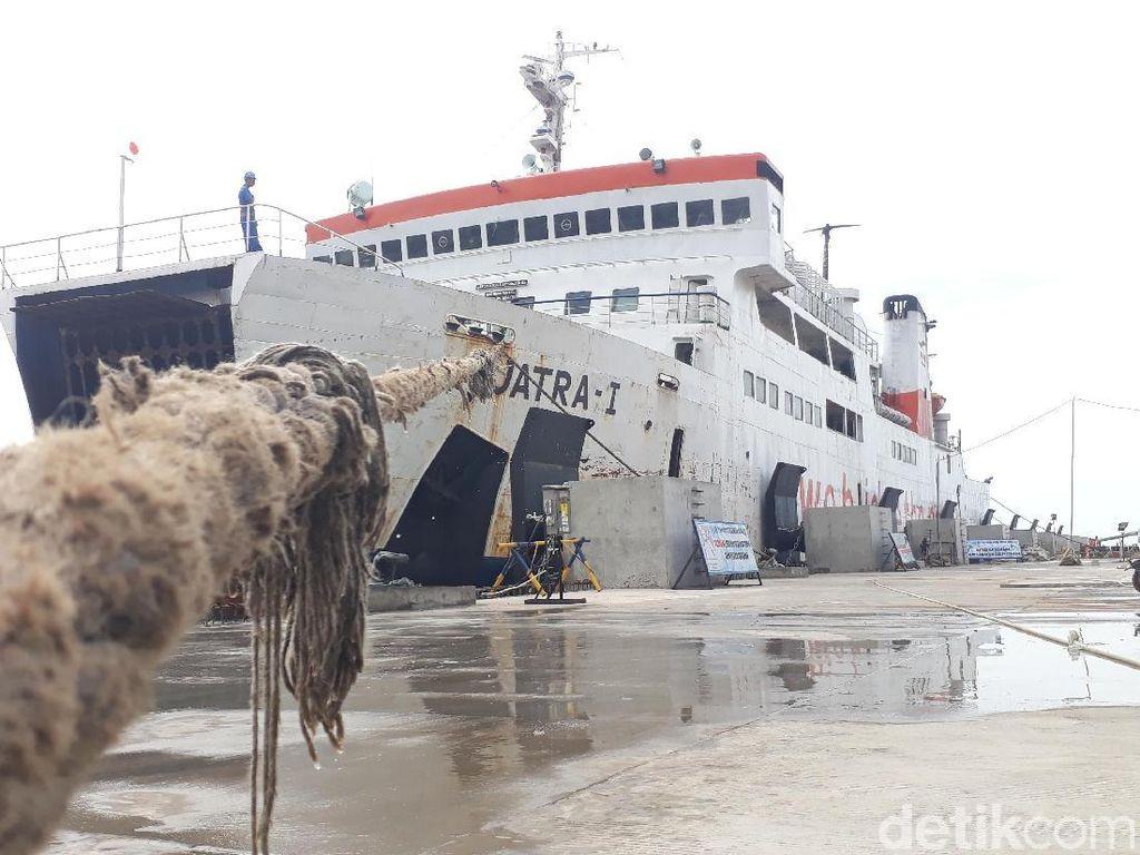 Dermaga Baru di Pelabuhan Merak Dites Saat Mudik Natal