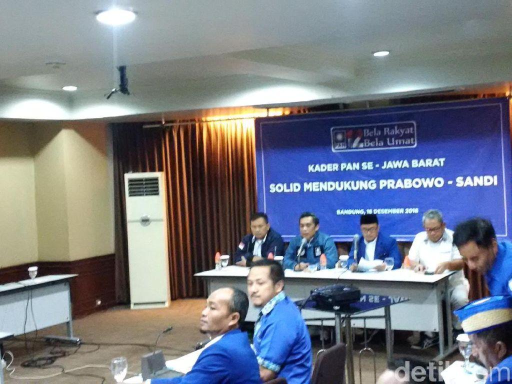 PAN Jabar Persilakan Kader Mundur Jika Tak Dukung Prabowo-Sandi