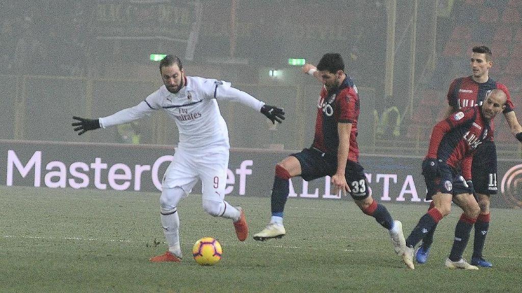 Hasil Liga Italia: 10 Pemain Milan Imbang Lawan Bologna