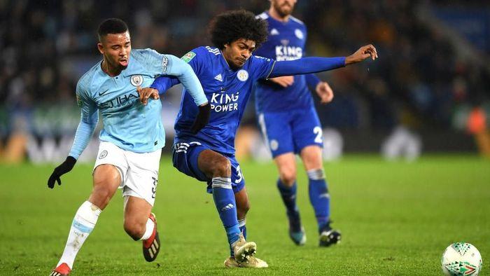 Manchester City menang adu penalti atas Leicester City di perempatfinal Piala Liga Inggris. (Foto: Shaun Botterill/Getty Images)