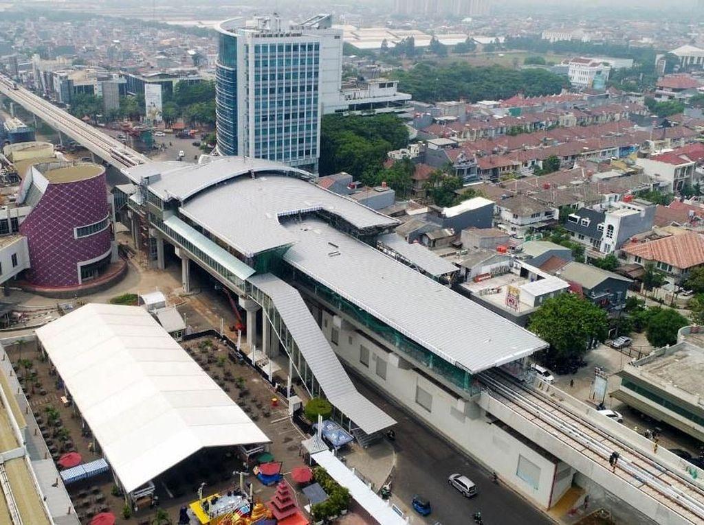Penampakan LRT Jakarta dari Udara, Keren Lho