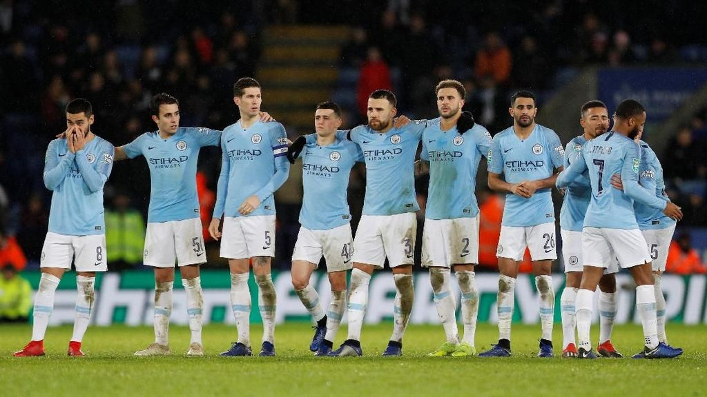 Manchester City Susah Payah Lewati Leicester