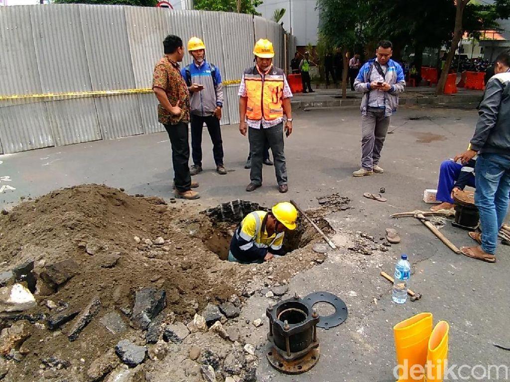 PDAM Surabaya Normalisasi Pipa yang Terdampak Amblesnya Jalan Gubeng