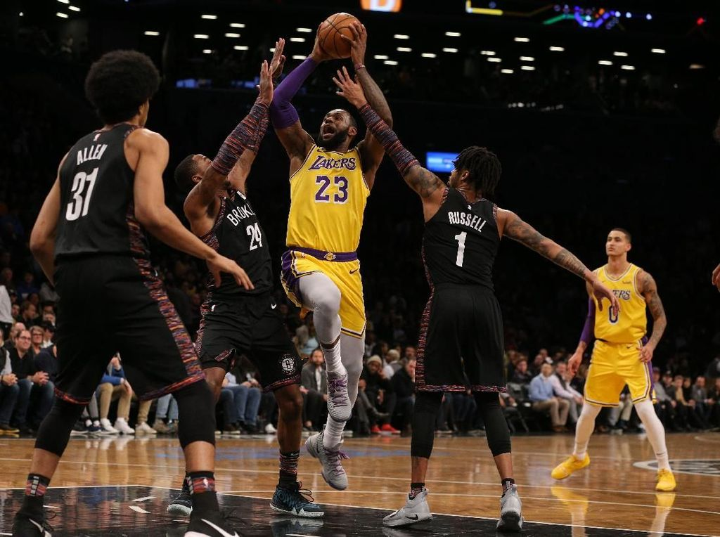 Hasil NBA: Lakers Tumbang di Brooklyn