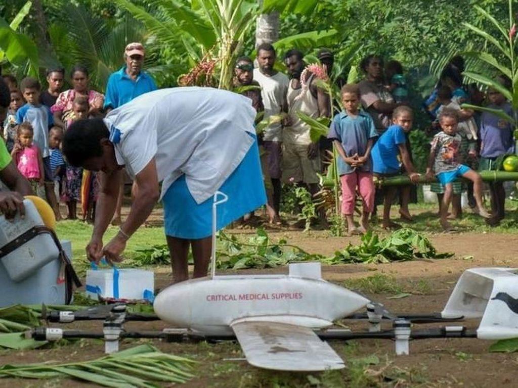 Berkat Drone, Pasokan Vaksin Sampai ke Pulau Terpencil Samudra Pasifik