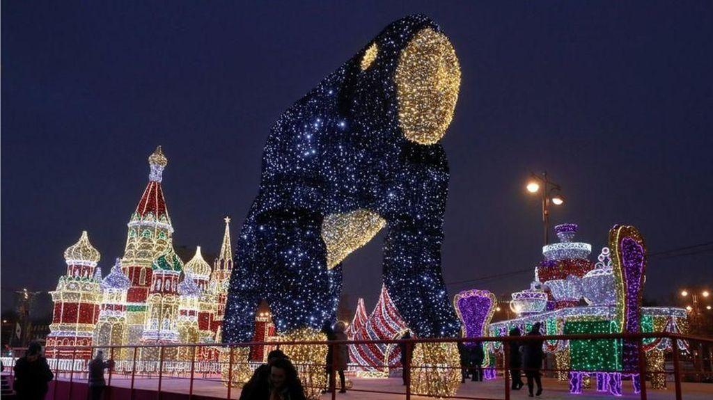 Kemeriahan Rusia Sambut Natal dan Tahun Baru 2019