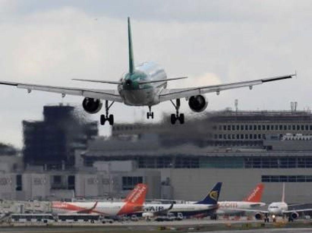 Gara-gara Drone, Pesawat di Bandara London Berbelok Tiba-tiba