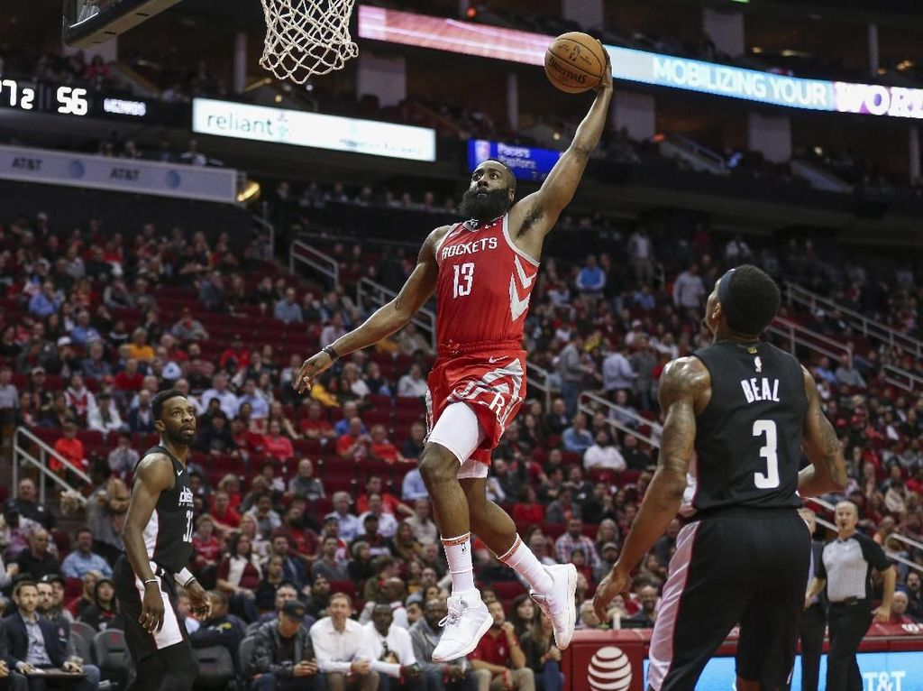 Hasil NBA: Bikin Rekor Three Point, Rockets Kalahkan Wizards